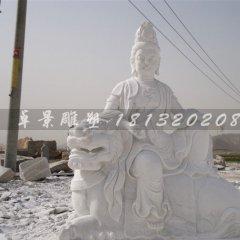 客戶定制的文殊普賢菩薩石雕