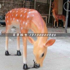 玻璃鋼卡通小鹿雕塑,梅花鹿玻璃鋼