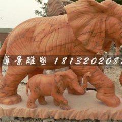 石頭大象,石雕大象,石雕母子象
