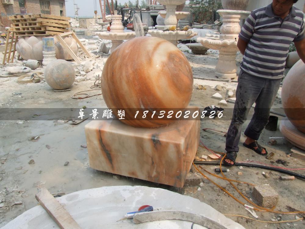 山西某商場定制的風水球雕塑