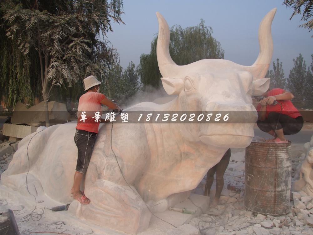石頭牛雕塑,石雕牛雕塑