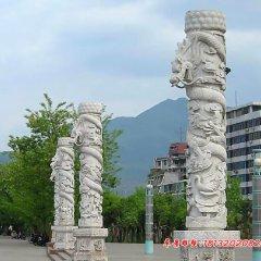 廣場石頭柱子,廣場石雕龍柱