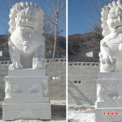 3米高石頭獅子,石雕獅子雕塑