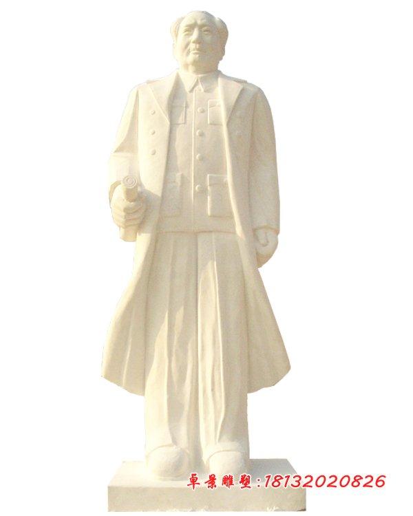 漢白玉毛主席雕塑,石頭毛主席雕塑 (1)