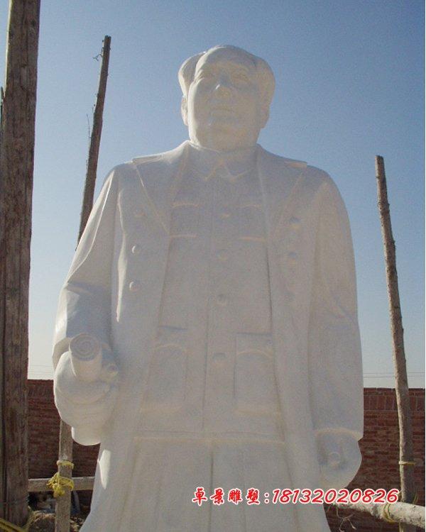 漢白玉毛主席雕塑,石頭毛主席雕塑 (4)