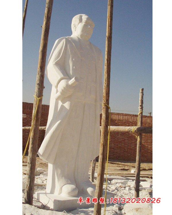 漢白玉毛主席雕塑,石頭毛主席雕塑 (2)