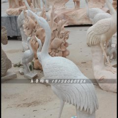 仙鶴石雕,漢白玉仙鶴雕塑