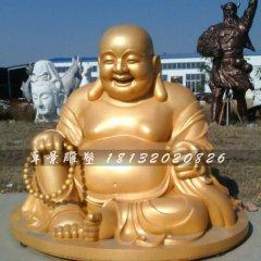 彌勒佛銅雕,貼金銅彌勒佛雕塑,笑面佛銅雕