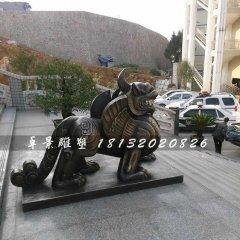 獨角獸銅雕,法院獨角獸雕塑