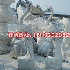 石雕仙鶴,大理石仙鶴雕塑