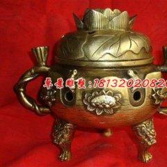 銅雕香爐,三足香爐,鎏金銅香爐
