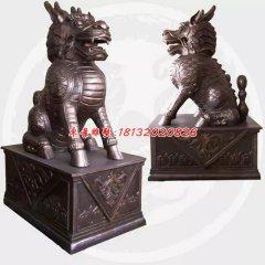麒麟銅雕,神獸銅雕,鑄銅麒麟雕塑