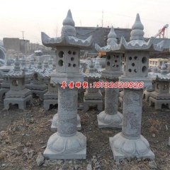 石灯雕塑,仿古石灯,公园景观石雕