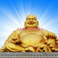 彌勒佛銅雕,鎏金銅佛像
