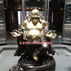 彌勒佛銅雕,貼金彌勒佛雕塑
