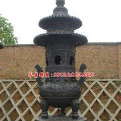 銅雕香爐,三足銅香爐雕塑