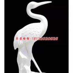丹頂鶴石雕,漢白玉仙鶴雕塑