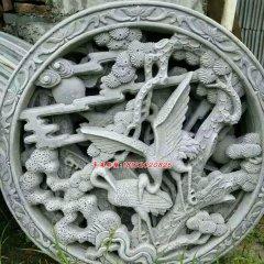 石浮雕,松鶴延年石浮雕
