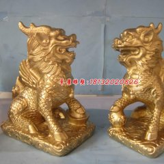 麒麟銅雕,鑄銅麒麟雕塑,神獸銅雕