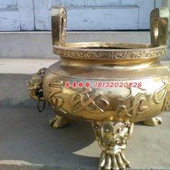 銅雕香爐,寺廟銅香爐雕塑
