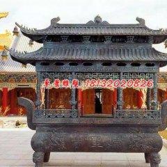 佛光普照銅雕香爐,寺廟香爐雕塑
