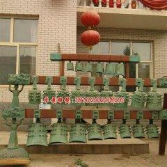 編鐘銅雕,仿古青銅編鐘雕塑