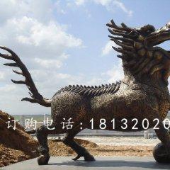 麒麟銅雕,廣場麒麟銅雕