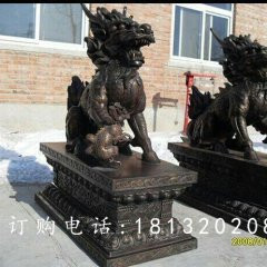 麒麟銅雕,古代神獸銅雕