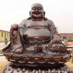 大肚彌勒佛銅雕,紫銅佛像雕塑