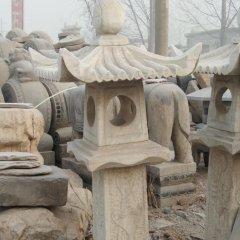 石灯雕塑,大理石仿古灯