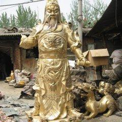 關公銅雕,鎏金銅關公
