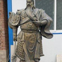 持刀關公銅雕,寺廟銅關公
