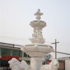 石雕噴泉,別墅區專用石頭噴泉雕塑