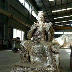 讀春秋關公雕塑,鑄銅人物雕塑