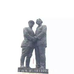 两位伟人雕塑,广场人物铜雕