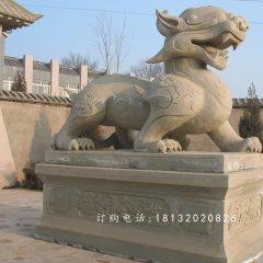 大理石貔貅雕塑,古代神獸石雕