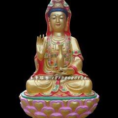 觀音菩薩銅雕,彩繪銅觀音菩薩雕塑