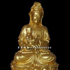 觀音菩薩銅雕,送子觀音銅雕
