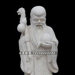壽星公石雕,漢白玉壽星公雕塑