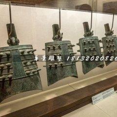 編鐘銅雕,古代樂器銅雕