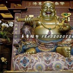 彌勒佛銅雕,寺廟坐式銅佛像