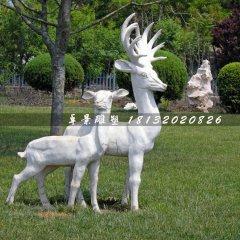 小鹿石雕,公園動物石雕