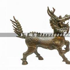 麒麟銅雕,廣場神獸銅雕