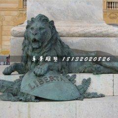 青銅獅子雕塑,西洋獅銅雕