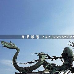 銅龍雕塑,廣場青銅神獸雕塑