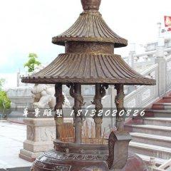 香爐銅雕,寺廟三足銅香爐