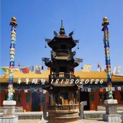 寺廟銅香爐,三足香爐銅雕