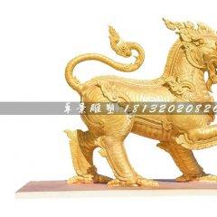 鑄銅麒麟雕塑,廣場神獸銅雕