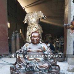 大肚彌勒佛銅雕,寺廟坐式佛像