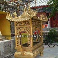 方形香爐銅雕,寺廟銅香爐